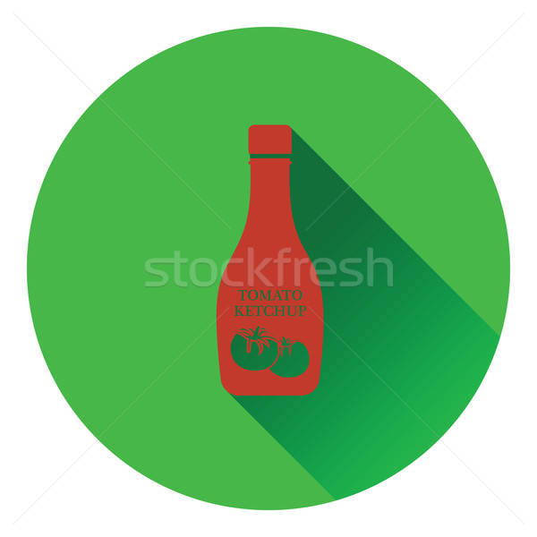 Tomaat ketchup icon kleur ontwerp eten Stockfoto © angelp