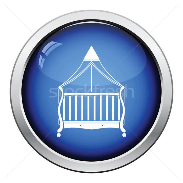Kołyska ikona przycisk projektu baby Zdjęcia stock © angelp