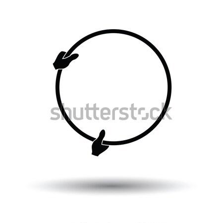 Atom energia ikon szürke absztrakt modell Stock fotó © angelp