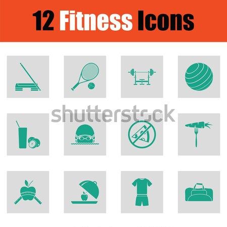 Set of twelve weapon icons Stock photo © angelp