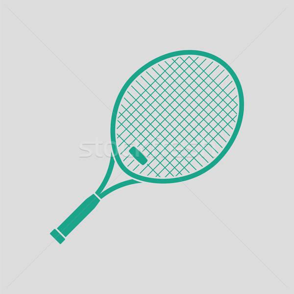 Tennis racket icon Stock photo © angelp