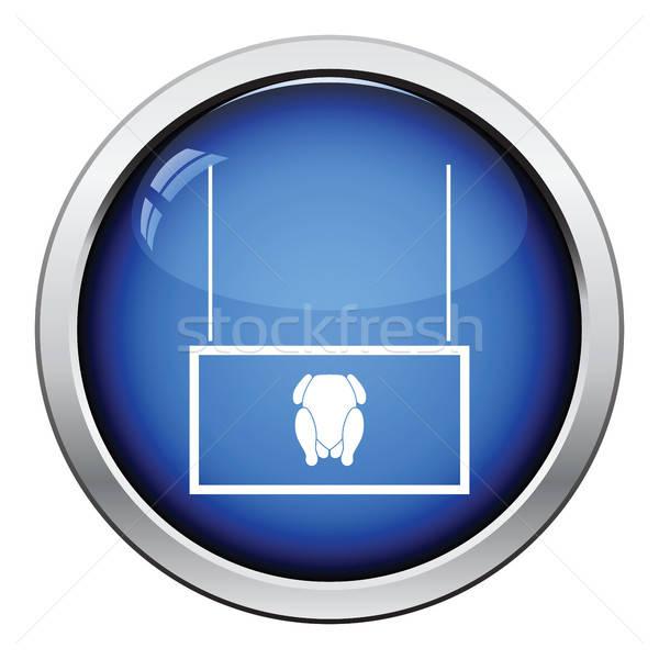 Aves de corral mercado departamento icono botón Foto stock © angelp
