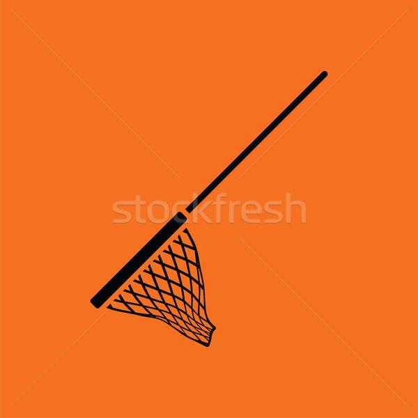 アイコン 漁網 オレンジ 黒 スポーツ 海 ストックフォト © angelp