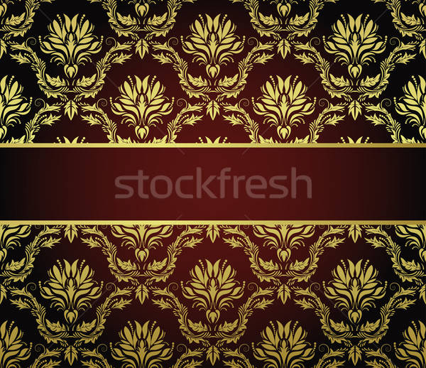 бесшовный дамаст шаблон вектора кадр легкий Сток-фото © angelp