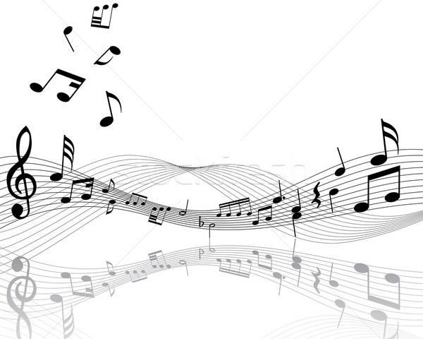Personale note musicali linee ombre sfondo Foto d'archivio © angelp