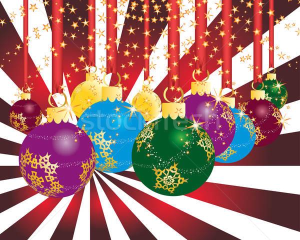 Stok fotoğraf: Noel · parti · yılbaşı · tebrik · kartpostal · sanat