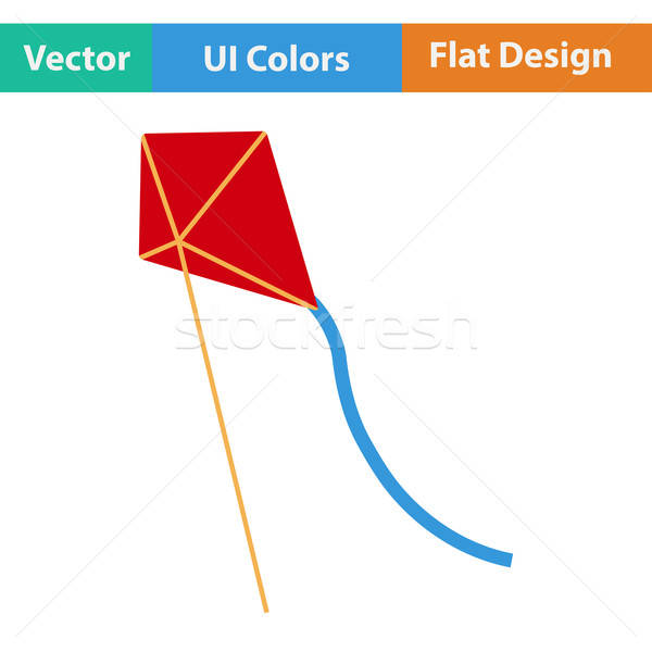 Flat design icon of kite  Stock photo © angelp