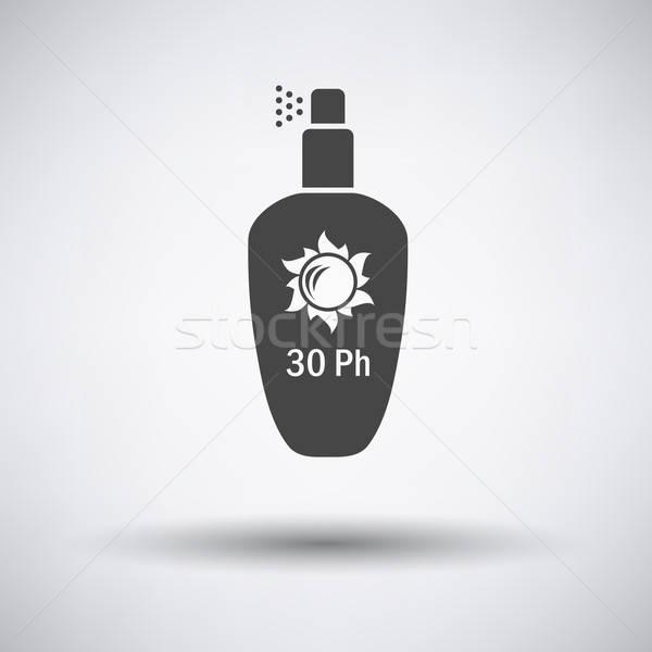 Foto stock: Spray · ícone · cinza · viajar · Óleo