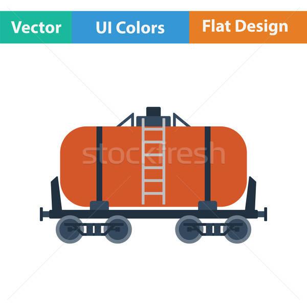 Öl Eisenbahn Tank Symbol Farbe Design Stock foto © angelp