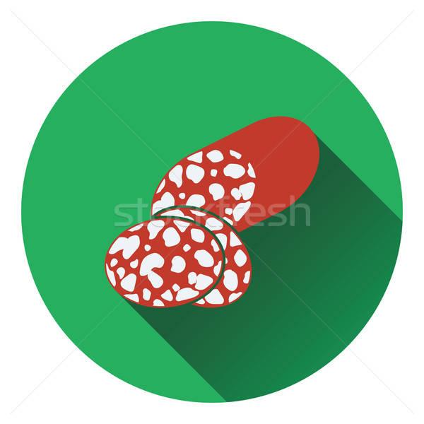 サラミ アイコン 色 デザイン キッチン 肉 ストックフォト © angelp