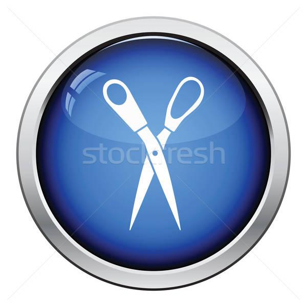 Tailor scissor icon Stock photo © angelp