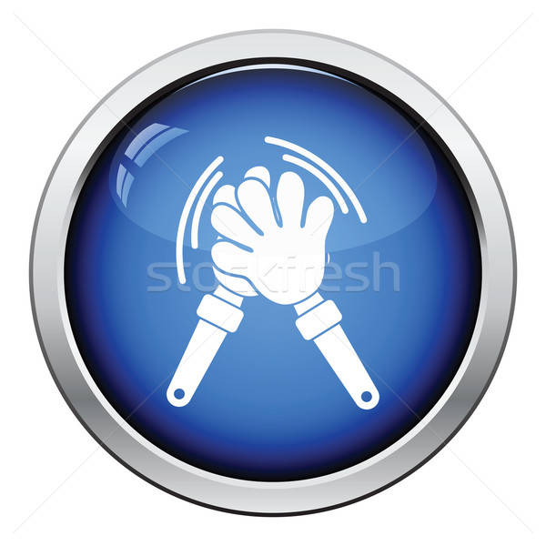 Stock photo: Football fans clap hand toy icon
