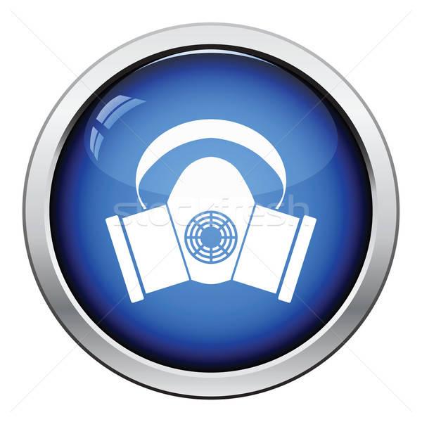 Poeira proteção máscara ícone botão Foto stock © angelp