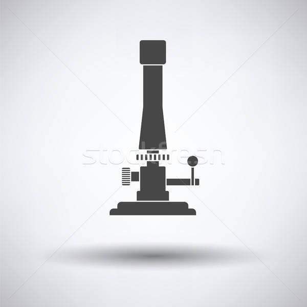 Icon of chemistry burner Stock photo © angelp
