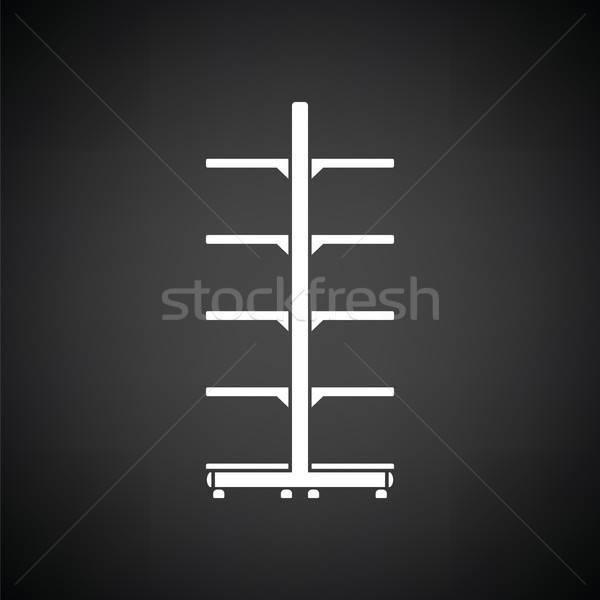 スーパーマーケット ショーケース アイコン 黒白 金属 ボックス ストックフォト © angelp
