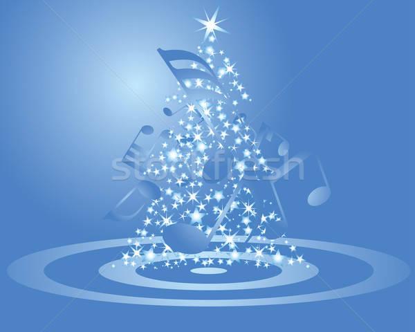 Stok fotoğraf: Noel · kartpostal · yeni · müzikal · personel · vektör