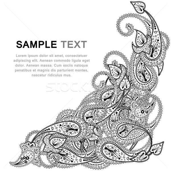 Paisley pattern with frame Stock photo © angelp