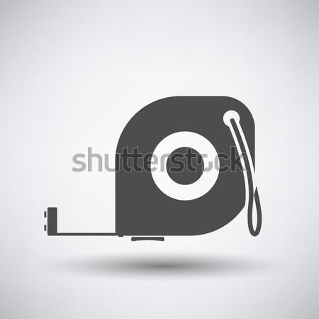 Centymetrem ikona szary budynku czarny narzędzie Zdjęcia stock © angelp