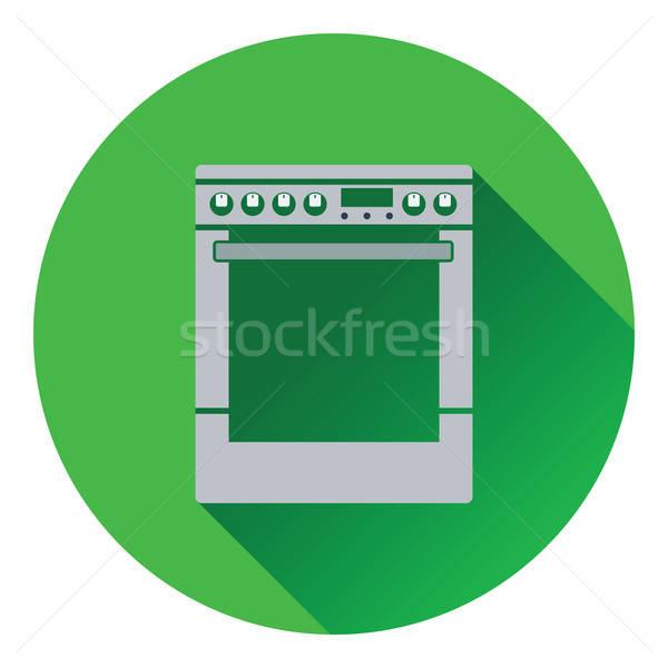 Kitchen main stove unit icon Stock photo © angelp