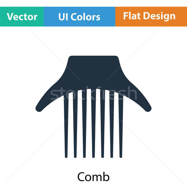 Kamm Symbol Farbe Design Mode Haar Stock foto © angelp