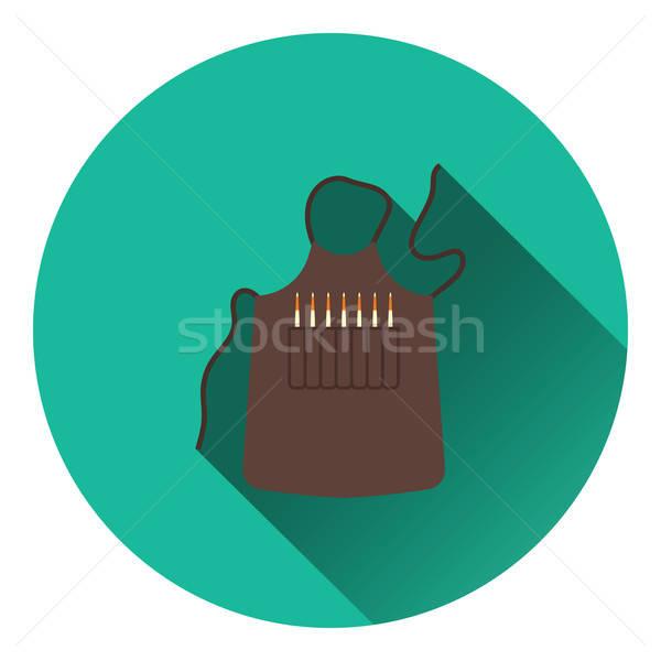Kunstenaar schort icon kleur ontwerp verf Stockfoto © angelp