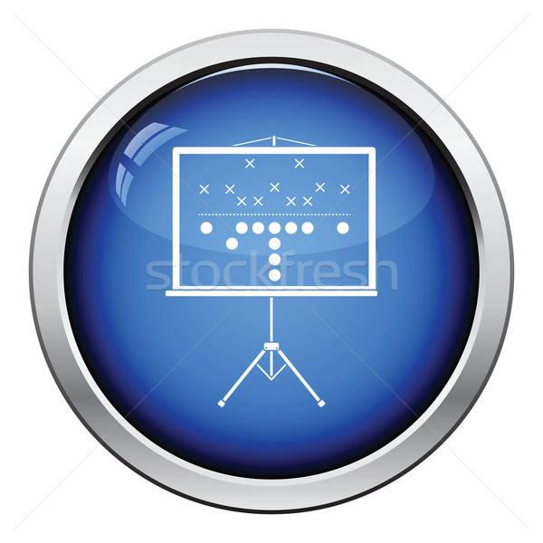 Americano jogo de futebol plano suporte ícone Foto stock © angelp