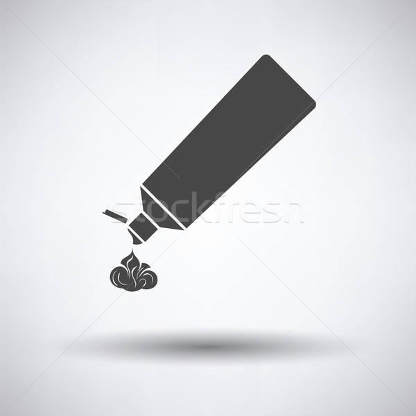 Fogkrém cső ikon szürke egészség csoport Stock fotó © angelp