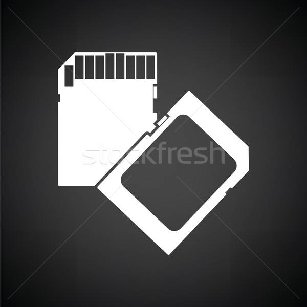 Memory card icon Stock photo © angelp