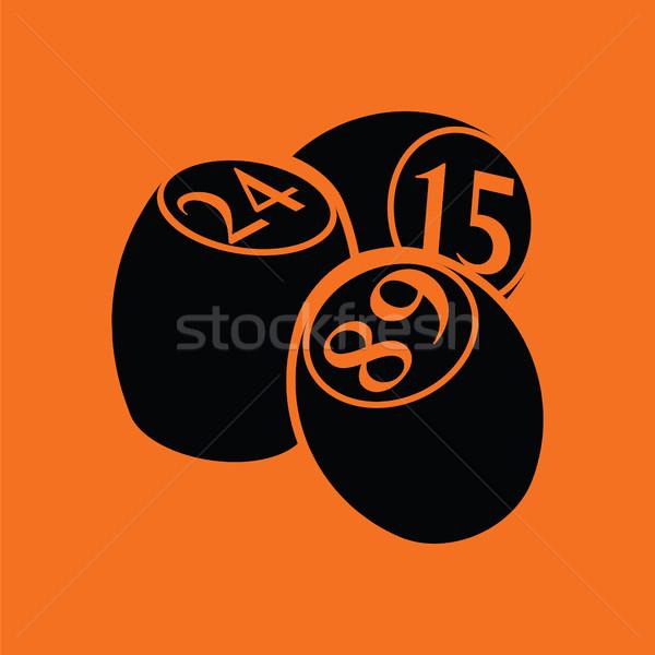 Bingo ícone laranja preto fundo arte Foto stock © angelp