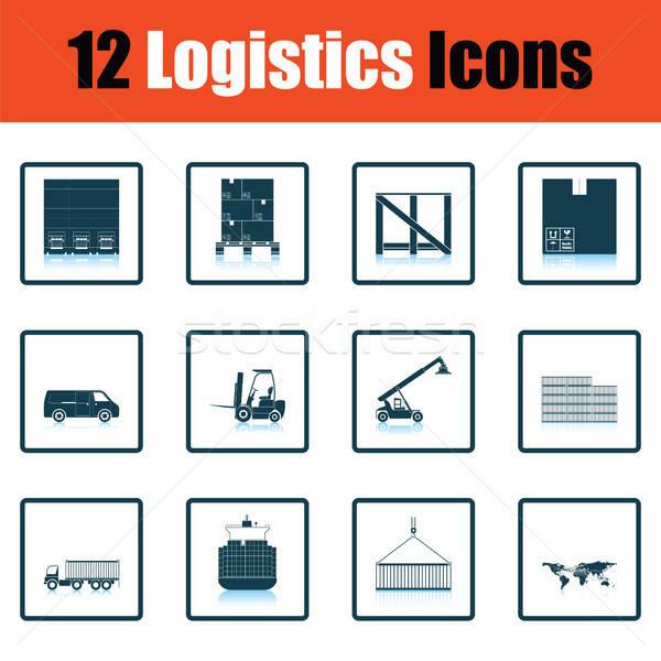 Stock foto: Logistik · Schatten · Reflexion · Design · Holz
