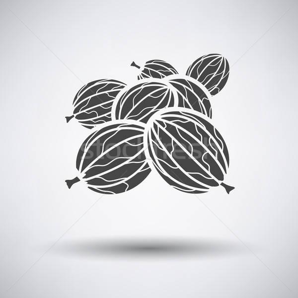 Gooseberry icon on gray background Stock photo © angelp