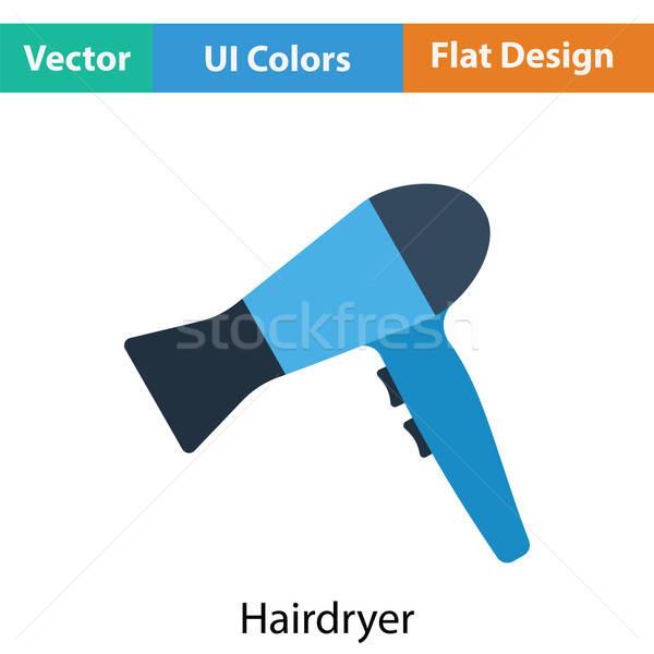 фен икона цвета дизайна волос черный Сток-фото © angelp