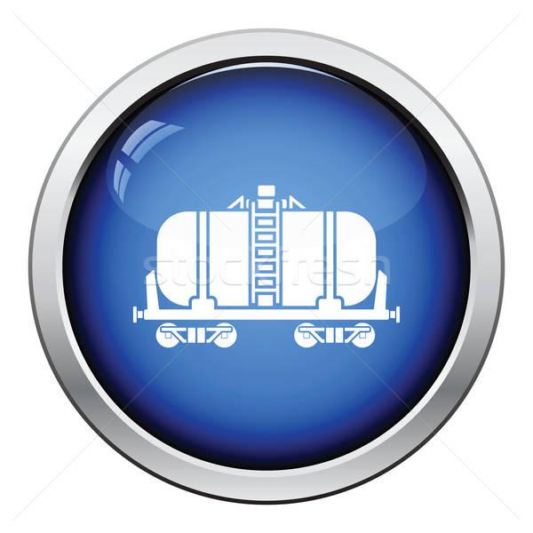 Óleo ferrovia tanque ícone botão Foto stock © angelp
