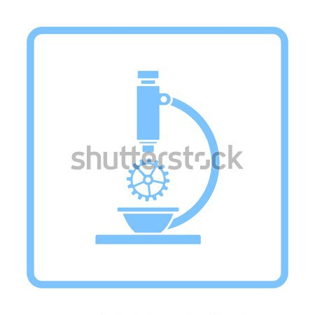 Icon of chemistry flask griped in stand Stock photo © angelp