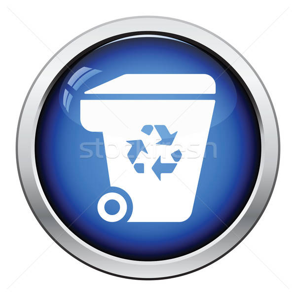 Garbage container recycle sign icon Stock photo © angelp