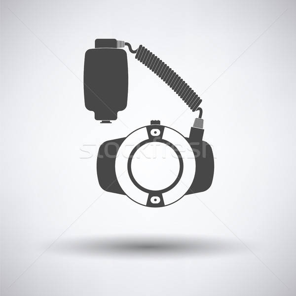Symbol portable Kreis Makro Flash grau Stock foto © angelp
