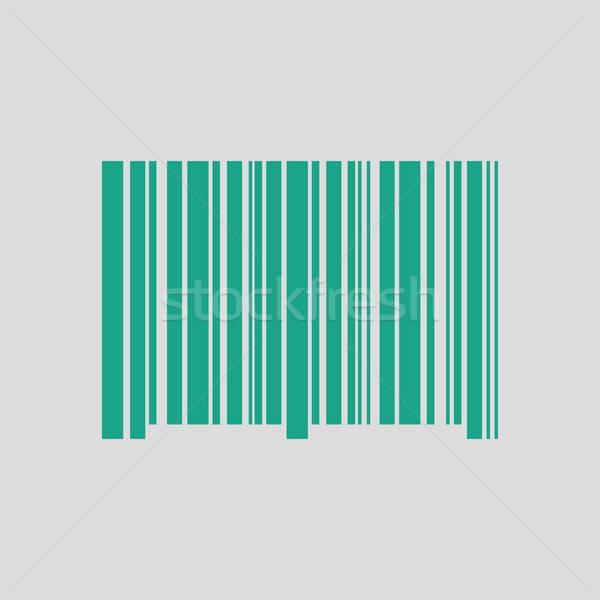 Barkod ikon gri yeşil iş alışveriş Stok fotoğraf © angelp