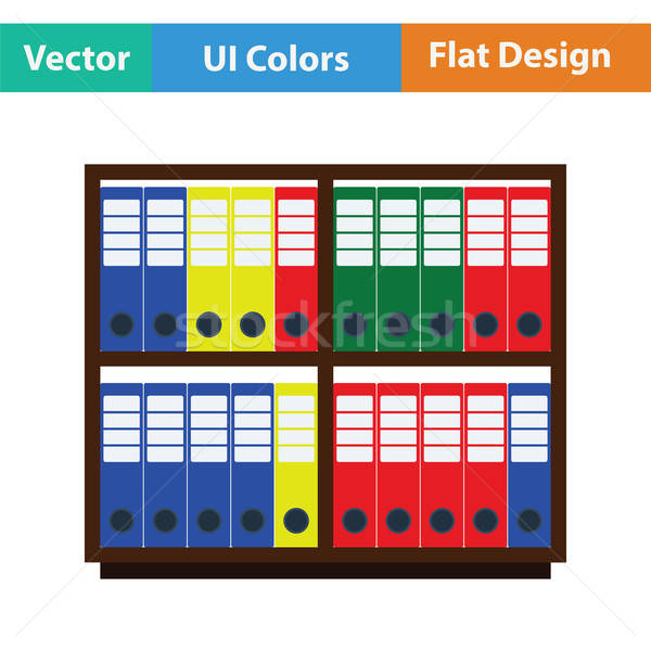 Office cabinet with folders icon Stock photo © angelp