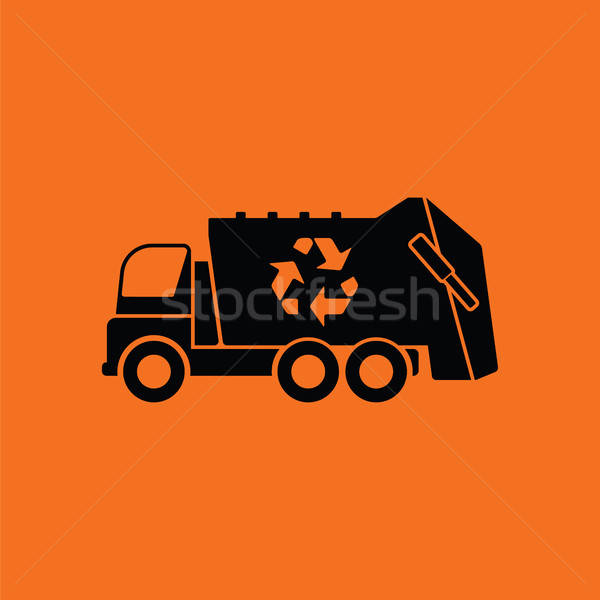 Garbage car recycle icon Stock photo © angelp