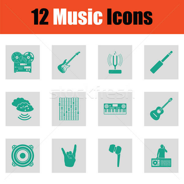 Set of musical icons Stock photo © angelp