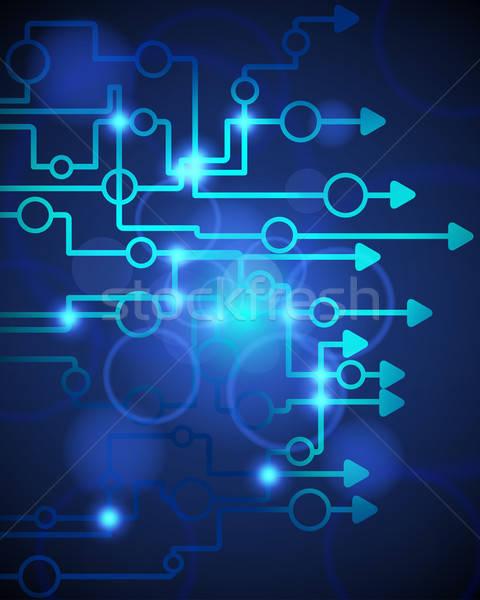 Technologisch Blauw illustratie doorzichtigheid eps10 computer Stockfoto © angelp