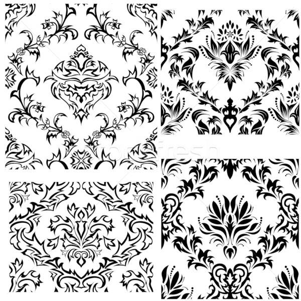 seamless damask patterns set Stock photo © angelp
