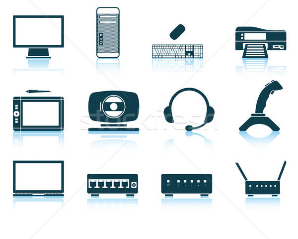 Ingesteld hardware iconen eps 10 Stockfoto © angelp