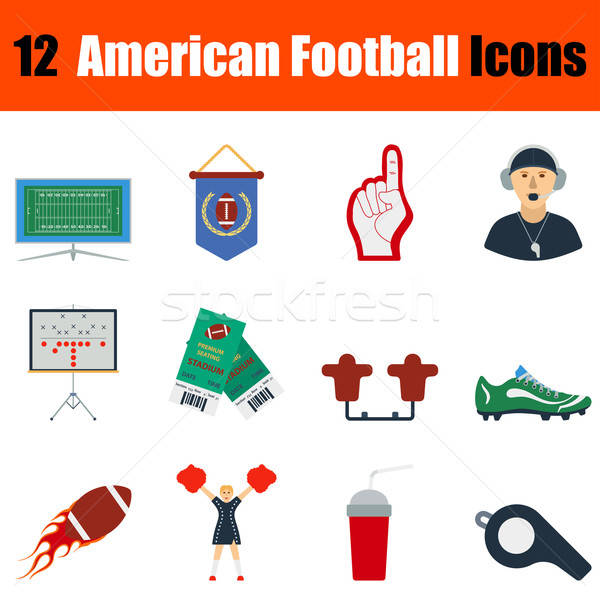 Сток-фото: американский · футбола · икона · дизайна · ui
