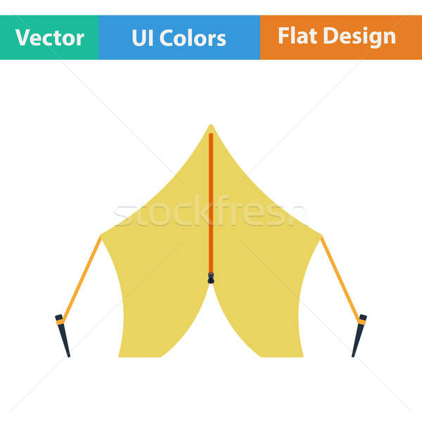 Flat design icon of touristic tent Stock photo © angelp