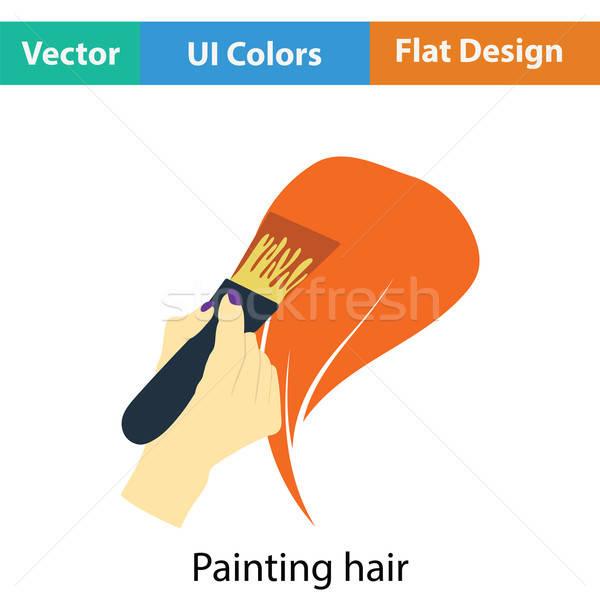 Boyama saç ikon renk dizayn güzellik Stok fotoğraf © angelp