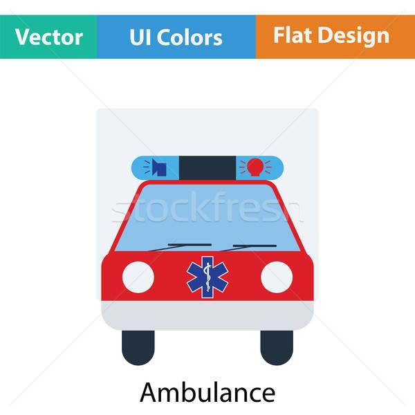 Krankenwagen Auto Symbol Farbe Design Arzt Stock foto © angelp