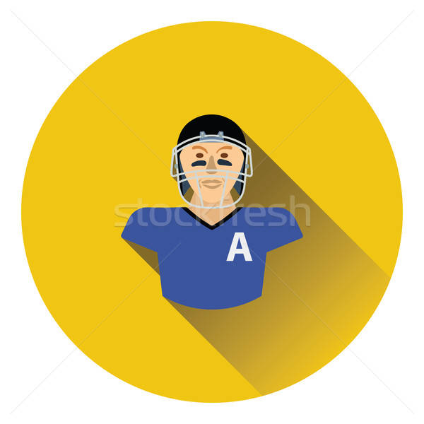 American football player icon Stock photo © angelp
