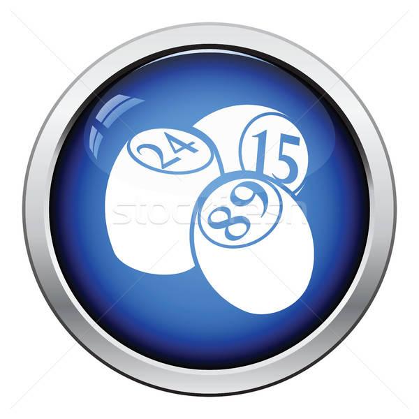 бинго икона кнопки дизайна спорт Сток-фото © angelp