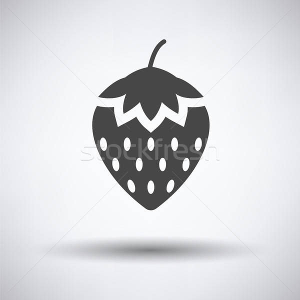 Strawberry icon Stock photo © angelp